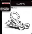 Stiker auto scorpion