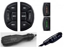 - module de comanda ce se pot prinde pe volan si comunica prin RF( radio frecventa ) cu unitatea centrala atasata care se ocupa de functia de cruise control - manete cu led sau fara